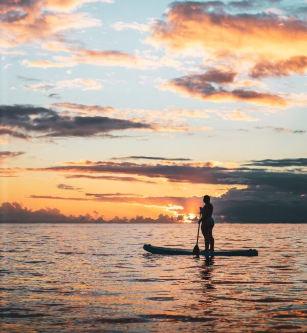 paddle suf chica atardecer