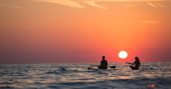 paddle surf sentados